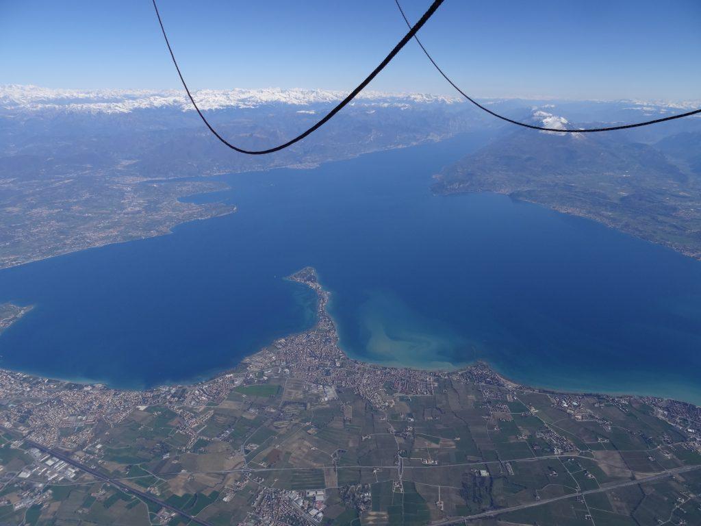 Ballonfahrt über den Gardasee