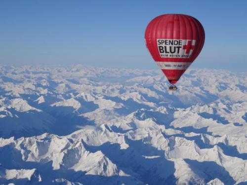 Alpenüberquerung mit dem Ballon