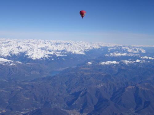 Alpensicht bis zum Anschlag im Ballon