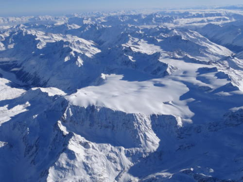 kaunertaler Gletscher aus dem Heißluftballon