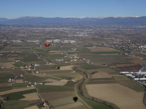 Nord Italien aus dem Heißluftballon