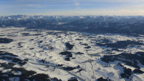 Alpenpanorama Ballonfahrt im Allgäu