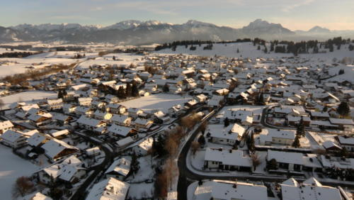 Winterstimmung bei der Ballonfahrt