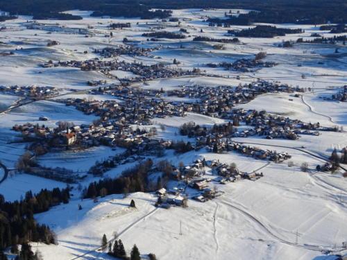 Alpenpanorama aus dem Heißluftballon